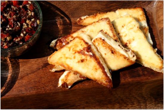 Sautéed Feta Cheese