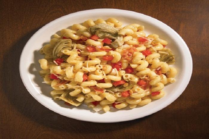 Cellentani-With-Fire-Roasted-Artichokes-Smoked-Pancetta-And-Pecorino-Toscano-Cheese