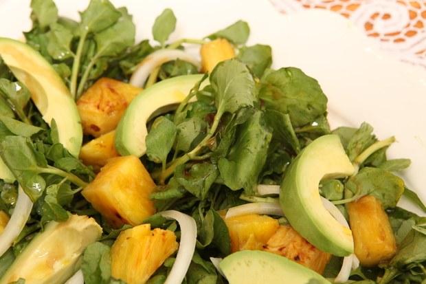 Cuban Avocado, Watercress, and Pineapple Salad (Ensalada de Aguacate, Berro, y Piña)