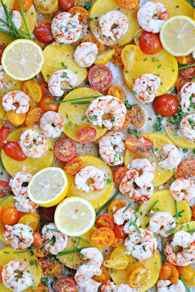 Shrimp & Polenta with Crispy Pancetta Tuiles