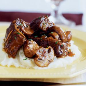 Slow-braised Beef Stew with Mushrooms
