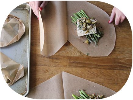 sheet pan asparagus and black cod