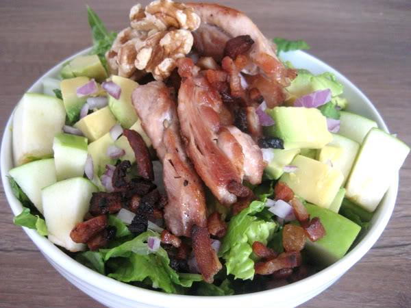 Bacon, Chicken, and Avocado Salad