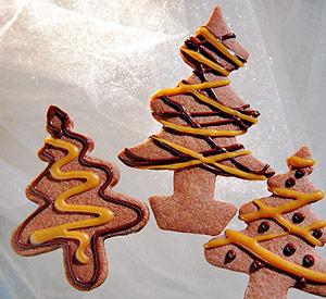 Mocha-Caramel Tree Cookies